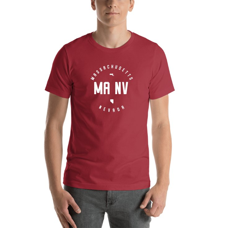 Massachusetts & Nevada Circle States T-shirt