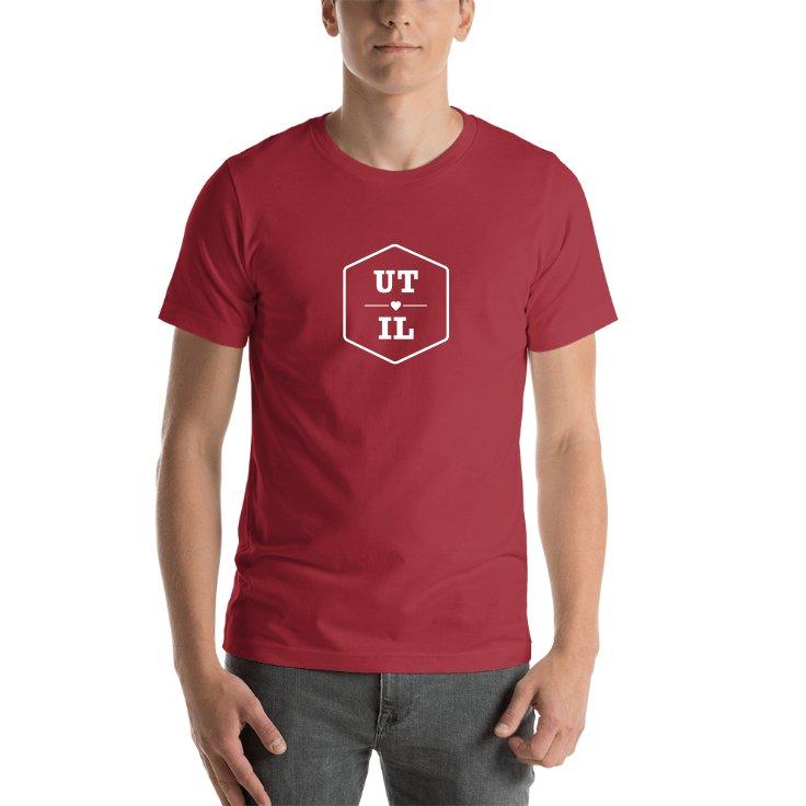 Utah & Illinois State Abbreviations T-shirt