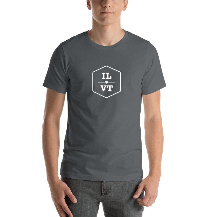 Illinois & Vermont T-shirts