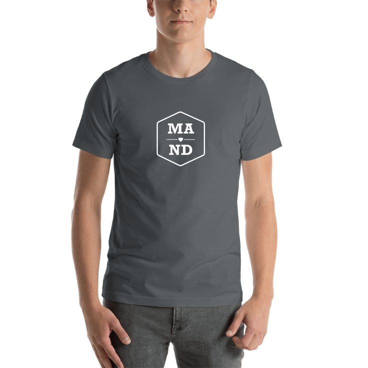 Massachusetts & North Dakota T-shirts