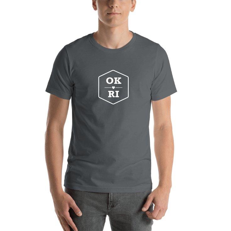 Oklahoma & Rhode Island T-shirts