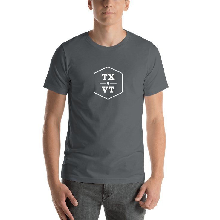 Texas & Vermont T-shirts