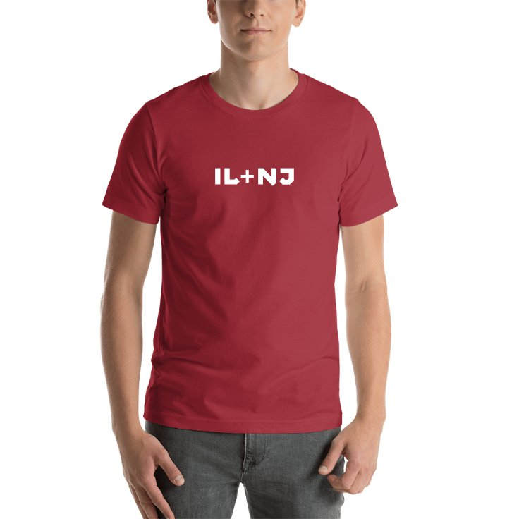Illinois Plus New Jersey T-shirt